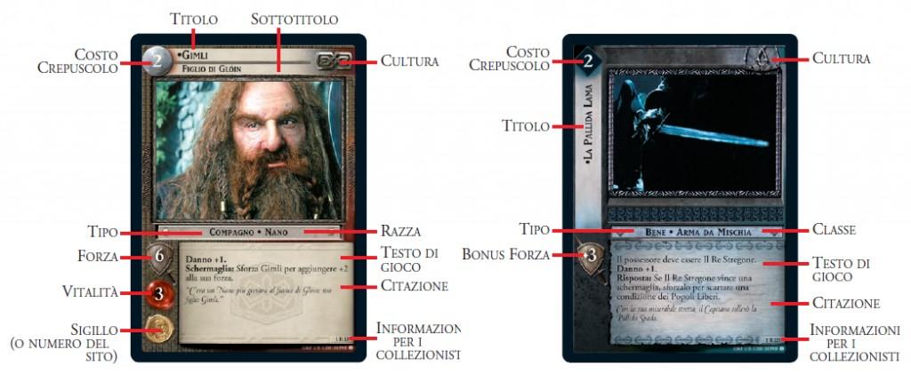descrizione carte signore degli anelli tcg