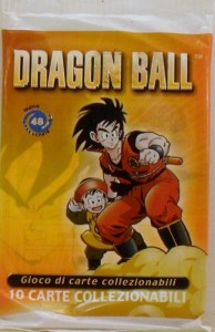 dragon ball gioco carte bustina