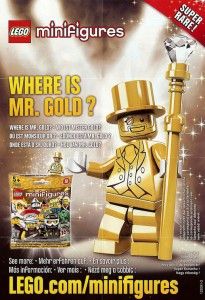 Lego minifigures serie 10 mr gold