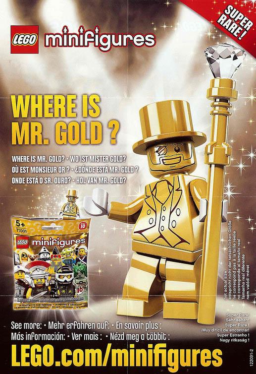 Lego minifigures serie 10 mr gold