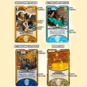 Tipi di gormiti Card