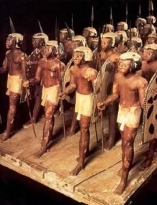 antiche action figures di soldati di fanteria numidiana