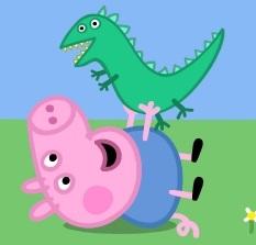 peppa pig personaggio george_e_il_signor_dinosauro
