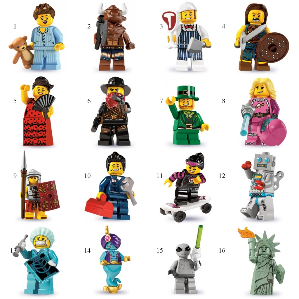 tutte le serie lego minifigure - serie 6