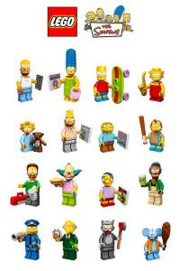 lego minifigures simpson serie completa