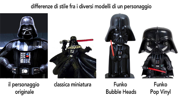 funko pop differenze di stile fra bubble heads e funko pop