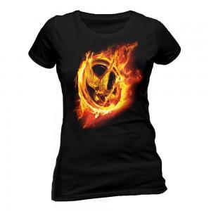 maglietta hunger games ghiandaia imitatrice di fuoco
