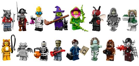 lego minifigure serie 14 monster completa