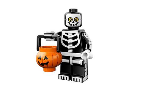 lego minifigures 14 ragazzo scheletro