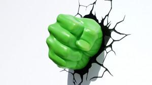 lampada a parete marvel hulk