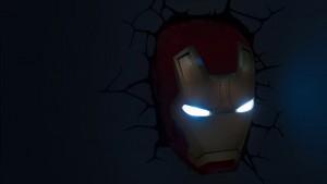 lampada a parete marvel iron man notte
