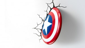 lampada a parete marvel scudo capitan america