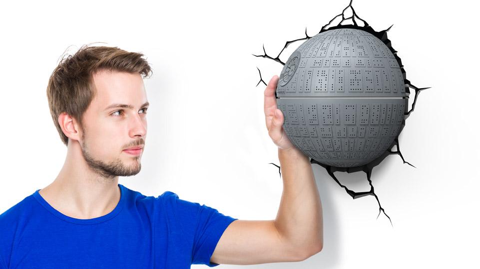 lampada a parete star wars morte nera