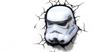 lampada a parete star wars stormtrooper
