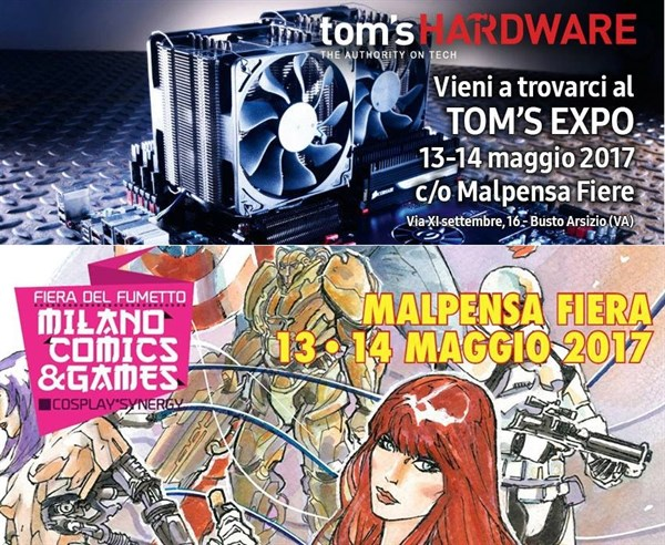 Milano Comics and Games 2017 + Tom's Hardware EXPO