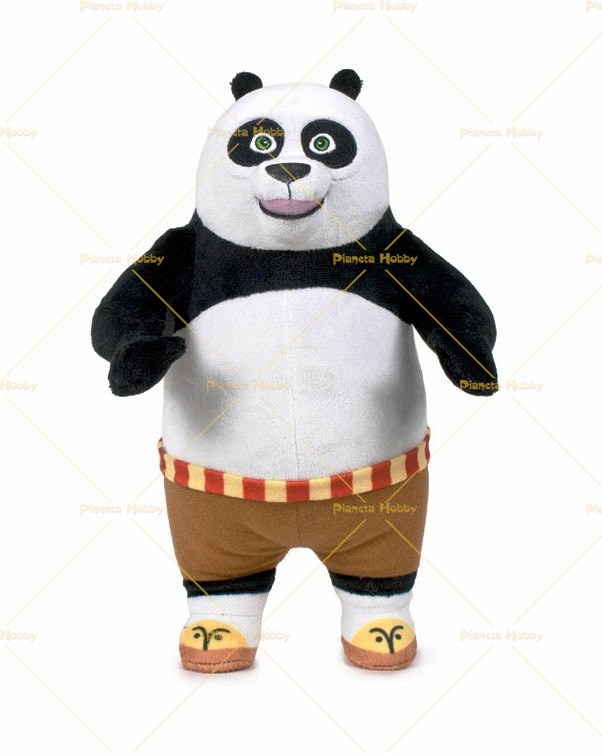 kung fu panda 3 po in piedi peluche 30cm. Black Bedroom Furniture Sets. Home Design Ideas