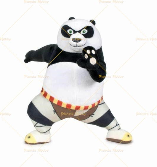 kung fu panda 3 po in posa peluche 30cm. Black Bedroom Furniture Sets. Home Design Ideas