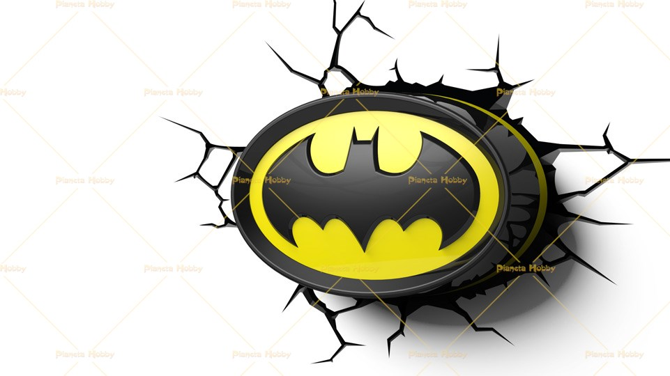 Lampada Lego Batman : Lampada a parete dc comics logo batman 3d fx deco light