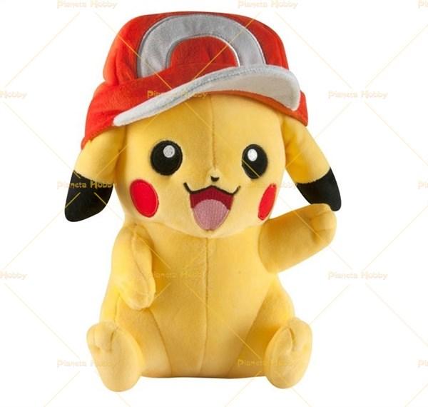 Pokemon pikachu con cappello peluche cm