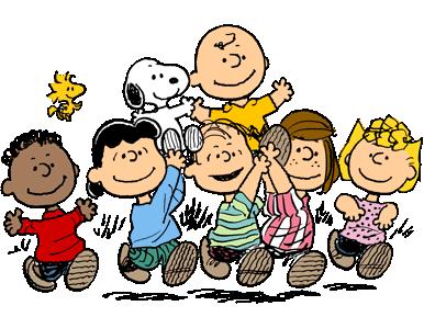 la banda dei personaggi peanuts e di snoopy per le nostre miniature
