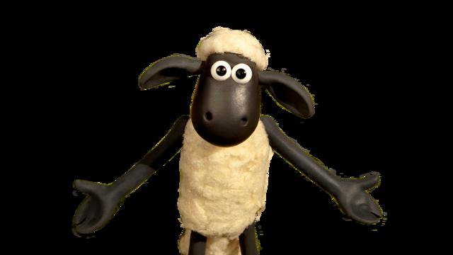un peluche di shaun la pecora di shaun the sheep