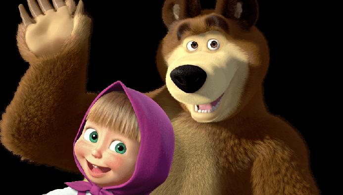 peluches di masha e orso